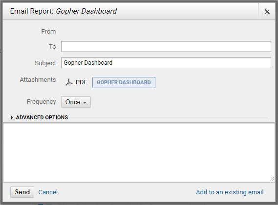 Gopher Dashboard Google Analytics Email Reports